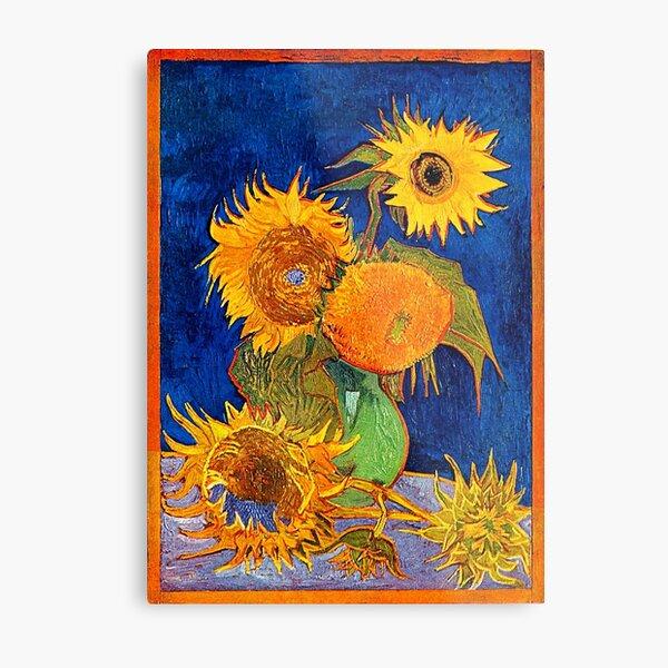 Van Gogh - Vase With Five Sunflowers Metal Print