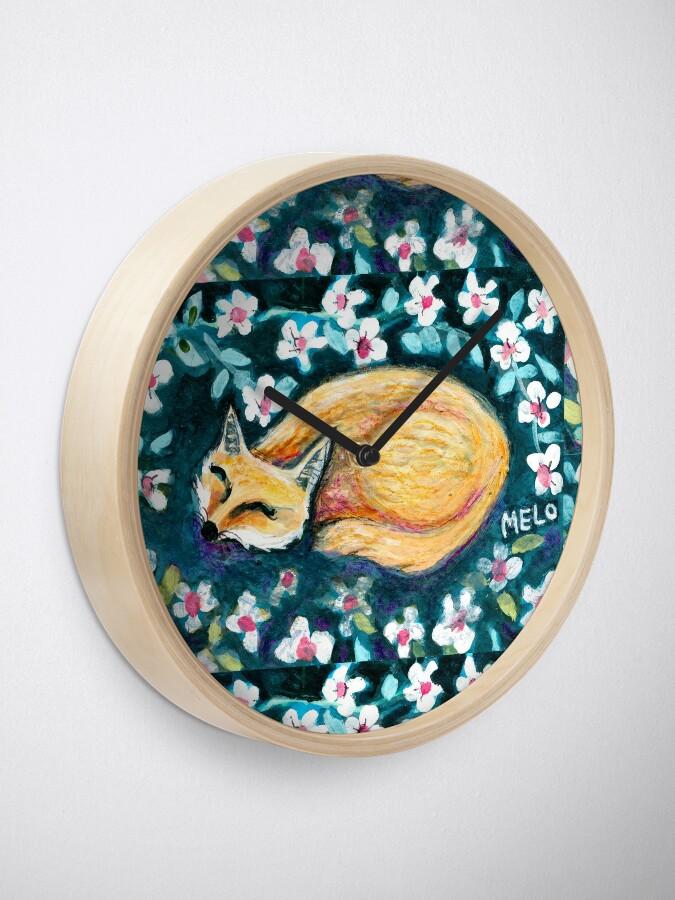 Alternate view of Fox Nap Clock