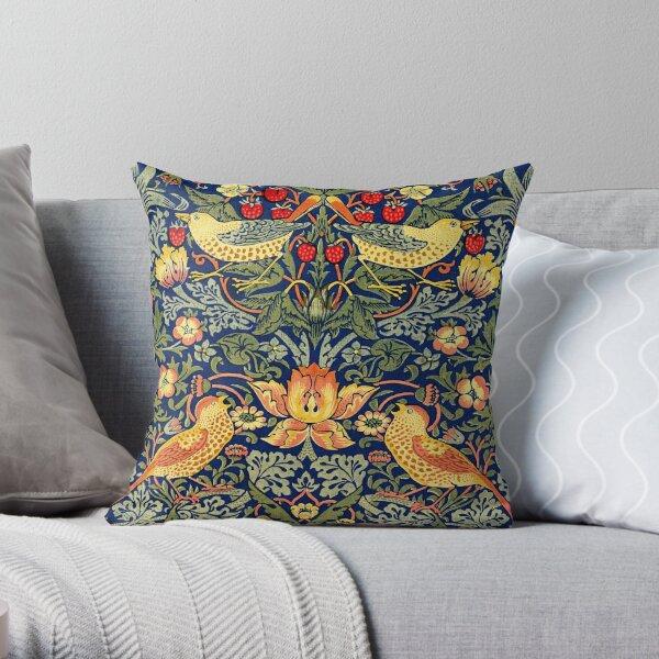William Morris - Strawberry Thief Throw Pillow