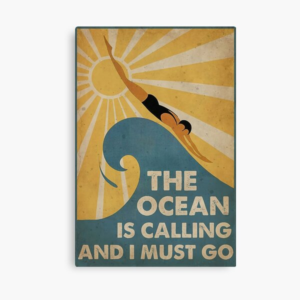 Swimming The Ocean is calling and i must go  Canvas Print