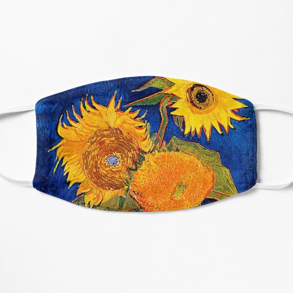 Van Gogh - Vase With Five Sunflowers Flat Mask