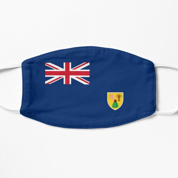 Turks and Caicos Islands Flag Flat Mask