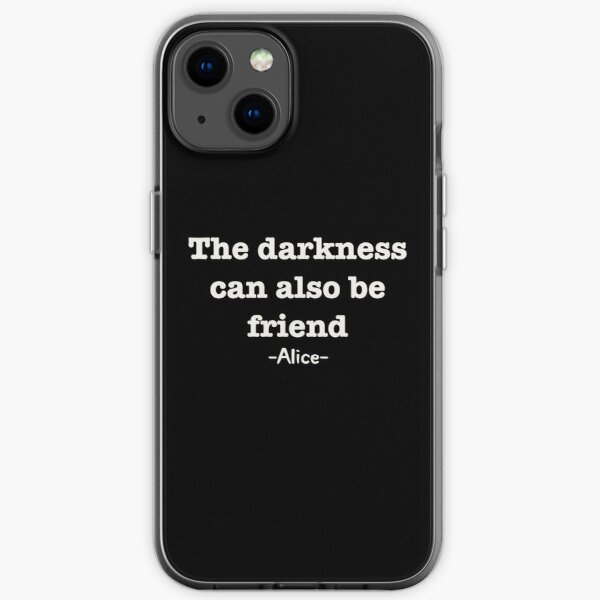 la oscuridad también puede ser amiga Funda blanda para iPhone