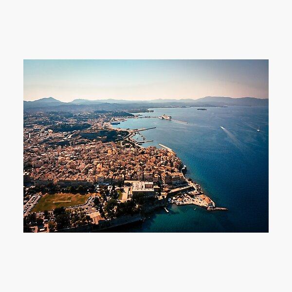 Corfu Kerkira from above Photographic Print