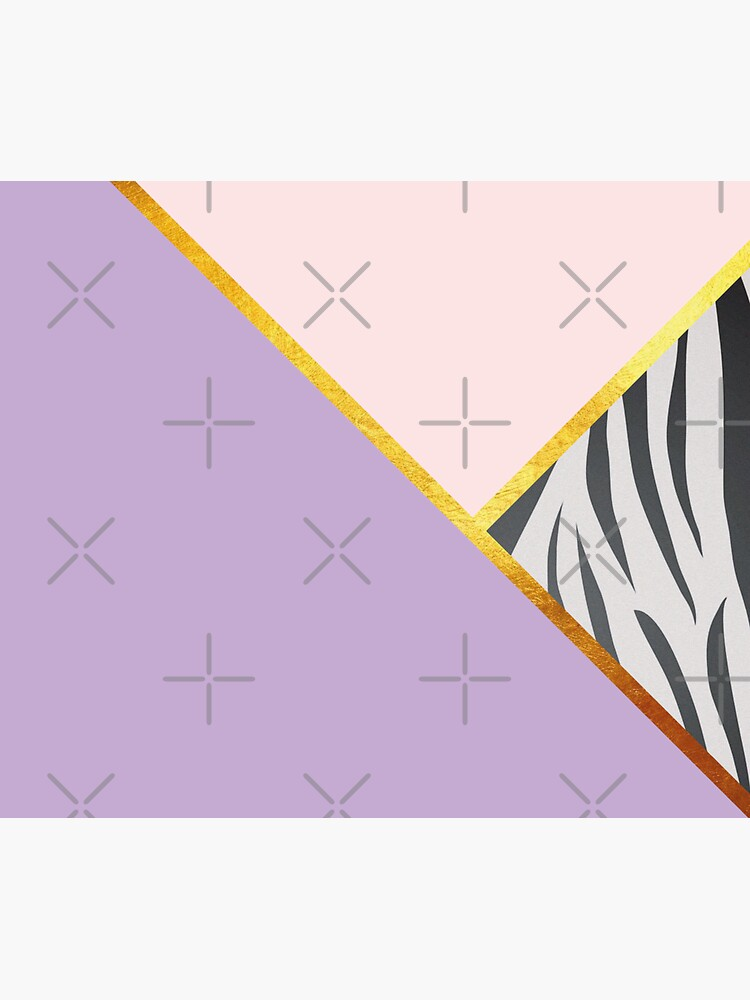 Abstract zebra print, color blocking lila by ColorsHappiness