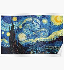 the starry night by van gogh Poster