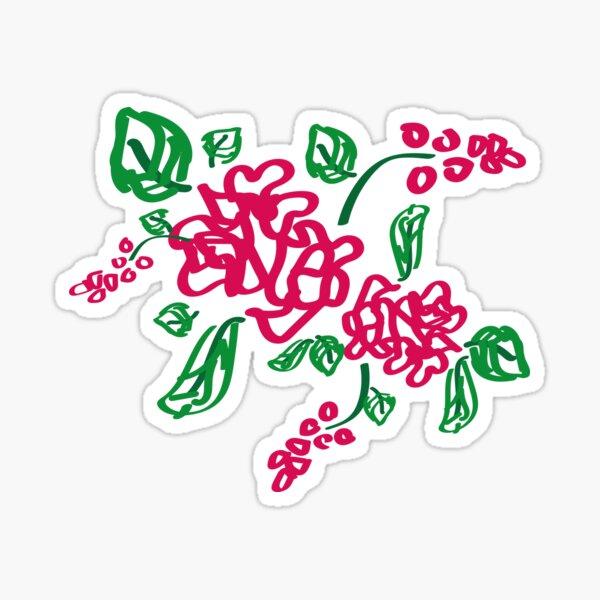 pink florals Sticker