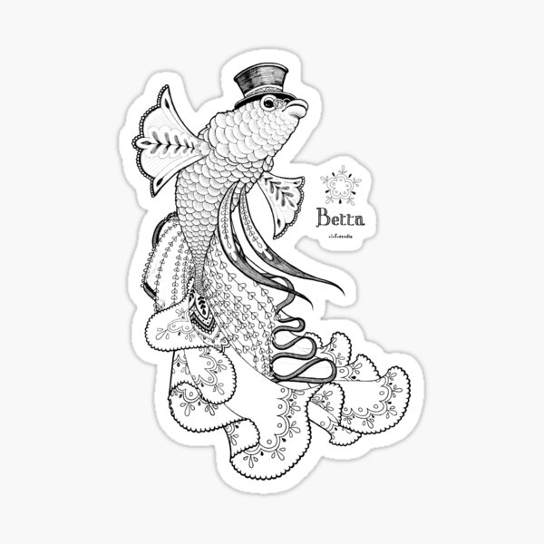 Betta II Sticker