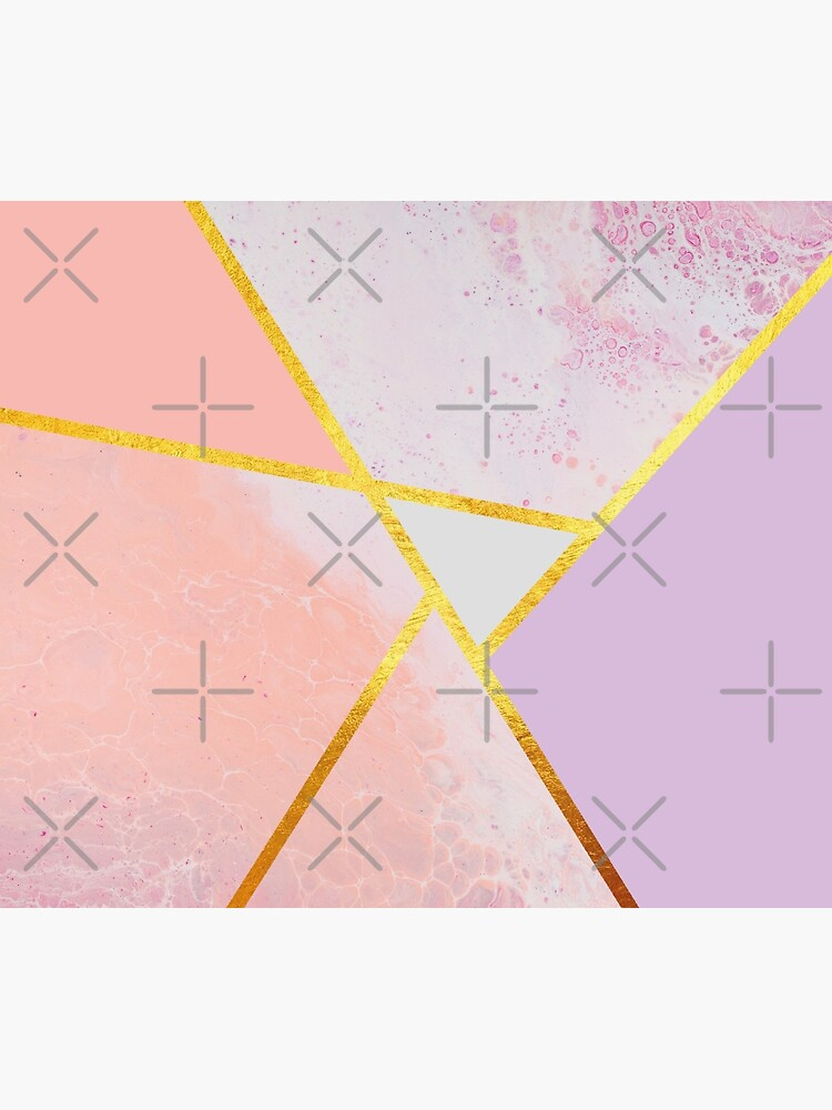 Abstract paint print, color blocking pink by ColorsHappiness