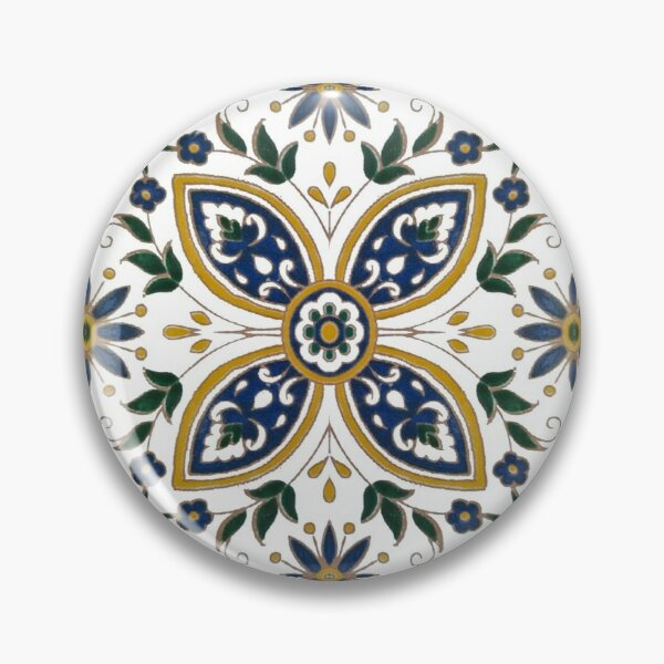 Original Tunisian floral ceramic mosaic tiles Pin