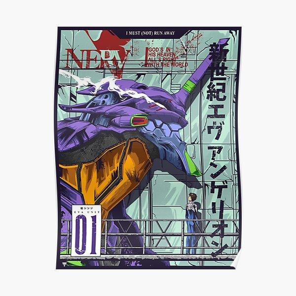Neon Genesis Evangelion (Unité Evangelion-01) Poster