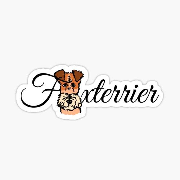 Foxterrier text design Sticker