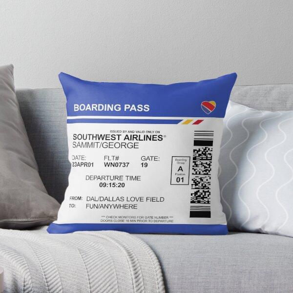 Boarding Pass Pillow GSM Throw Pillow