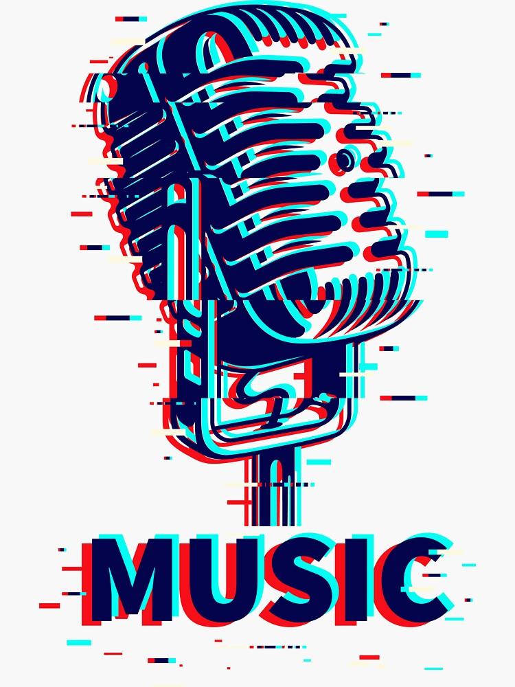 Music Retro Vintage Microphone by mdikici