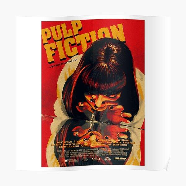Póster vintage de Pulp Fiction: pegatinas, camisetas y más Póster