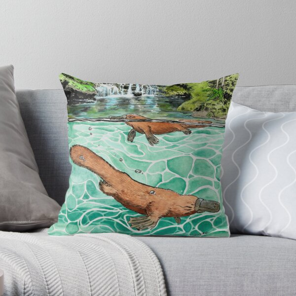 Platypus Falls Throw Pillow