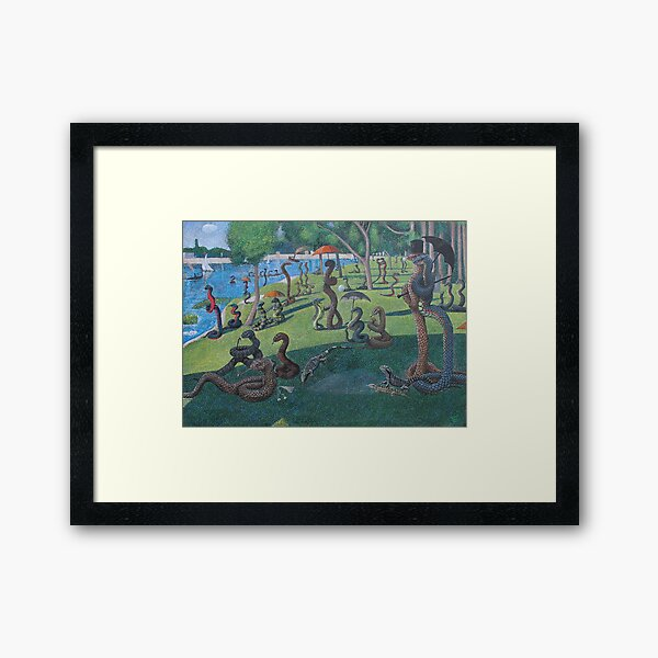 Sunday Afternoon on the Island of La Serpent, after Seurat Framed Art Print