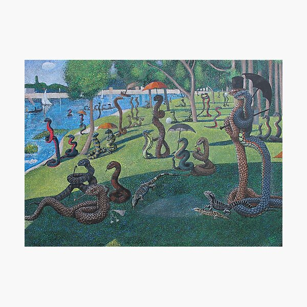 Sunday Afternoon on the Island of La Serpent, after Seurat Photographic Print