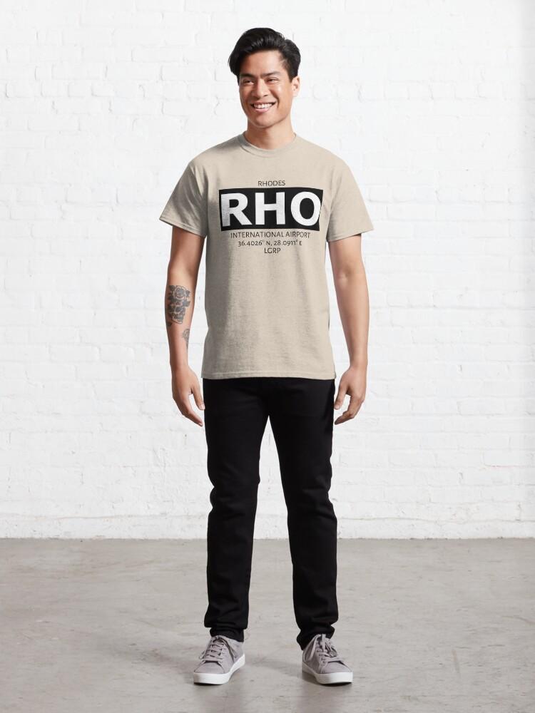 Alternate view of Rhodes International Airport KGS Classic T-Shirt