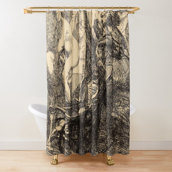 Albert Besnard The Orgy Lorgie French Litz Collection, The Orgy (L'orgie), 1900 Shower Curtain