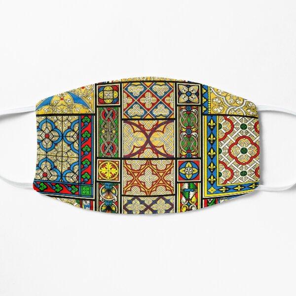 Moyen Age - Middle ages patterns art Flat Mask