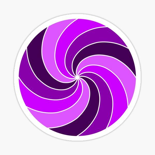 Purple Spiral Sticker