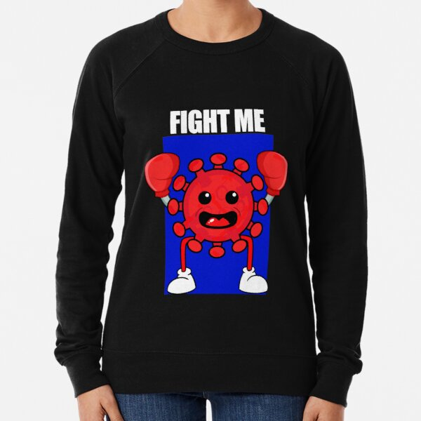 Red Covid Boxing WTFBrahh Lightweight Sweatshirt
