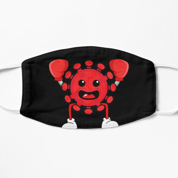 Red Covid Boxing WTFBrahh Flat Mask