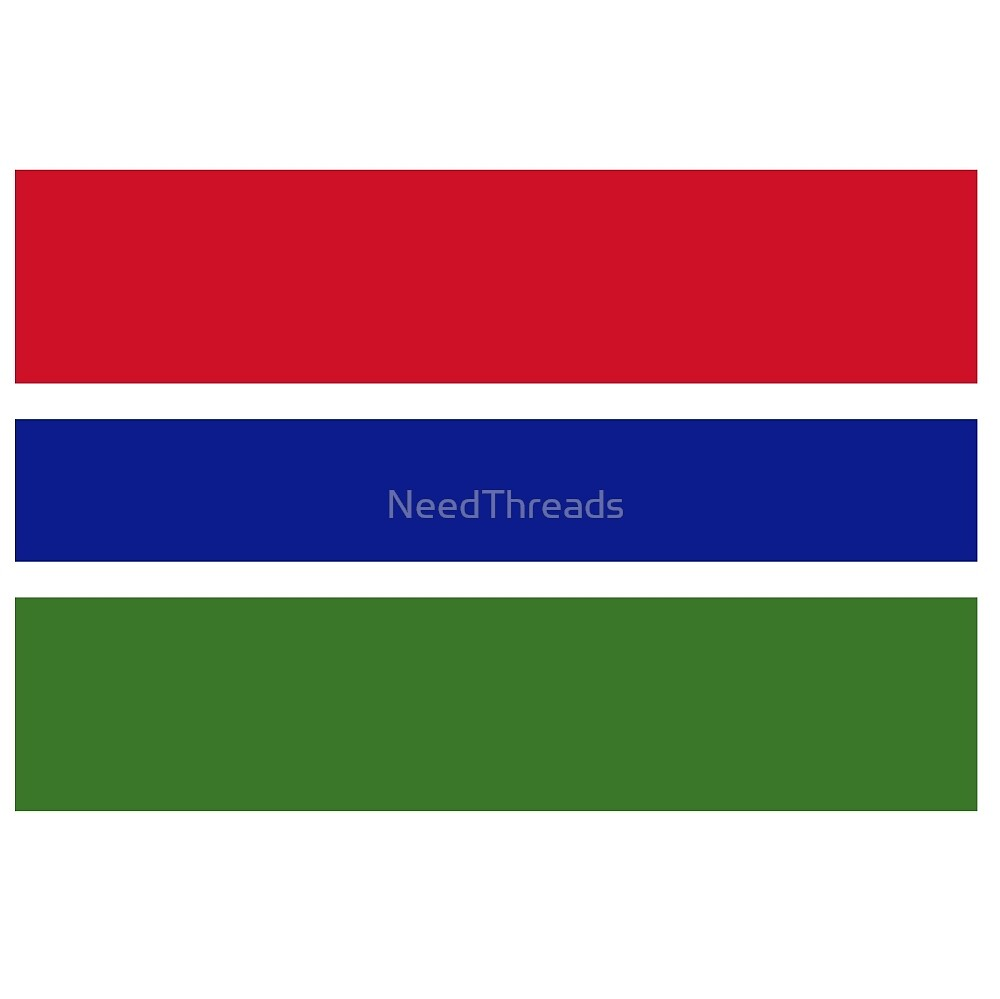 Gambia Flag by NeedThreads