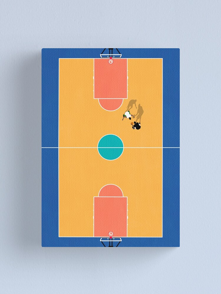 Alternate view of Aerial Illustration of Street Basketball Court  Canvas Print