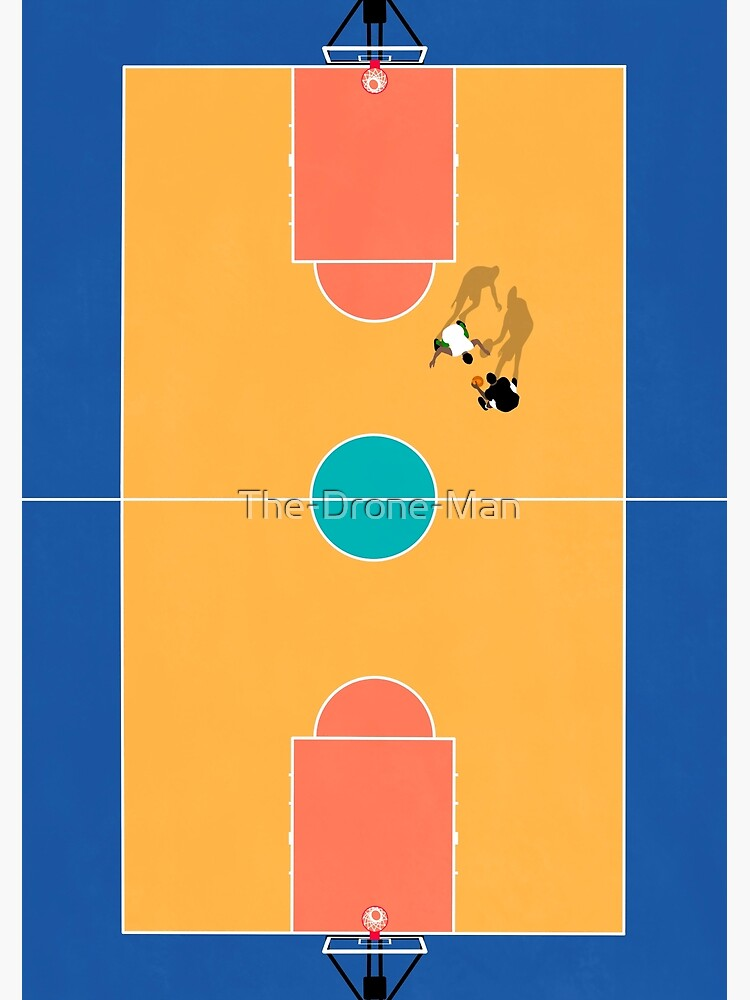 Aerial Illustration of Street Basketball Court  by The-Drone-Man