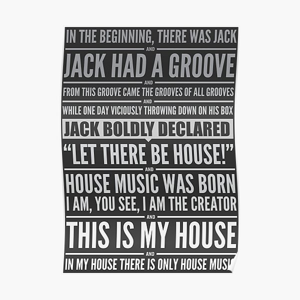 Jack's House - White on Black Poster
