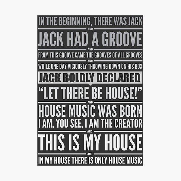 Jack's House - White on Black Photographic Print