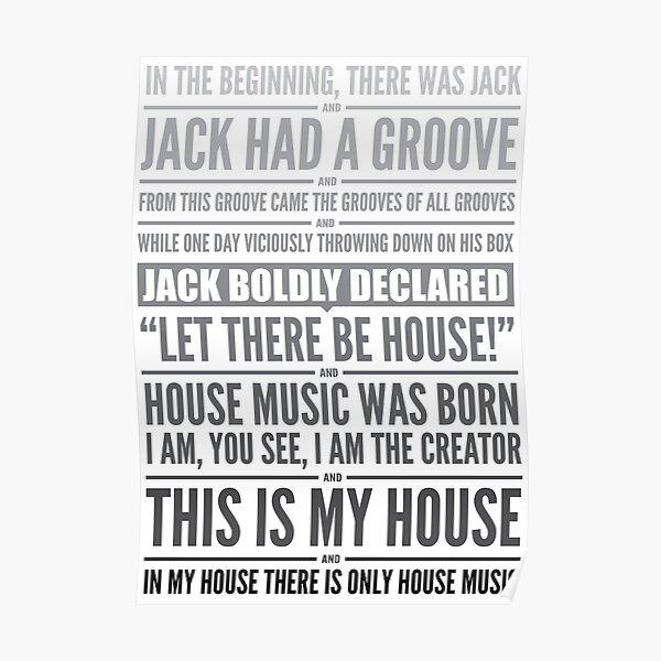 Jack's House - Black on White Poster