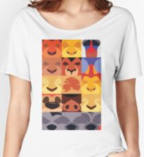 Minimalist Lion King Icons Women's Relaxed Fit T-Shirt