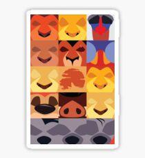 Minimalist Lion King Icons Sticker