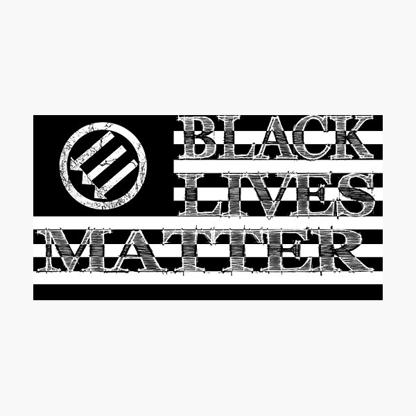 BLM Antifa US Flag (Light) Photographic Print