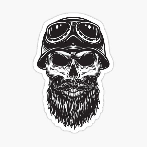 The Bearded Skull Rider Sticker