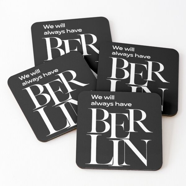 We will always have Berlin Coasters (Set of 4)