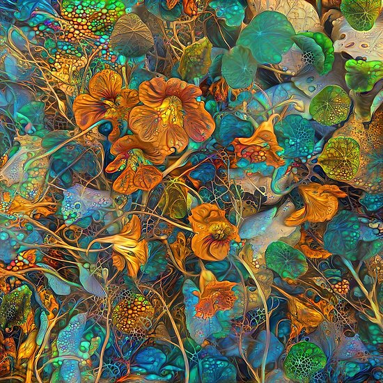 Floral deep dream