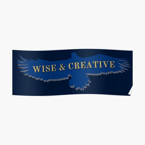 Blue Eagle Raven Flying Wise and Creative Poster