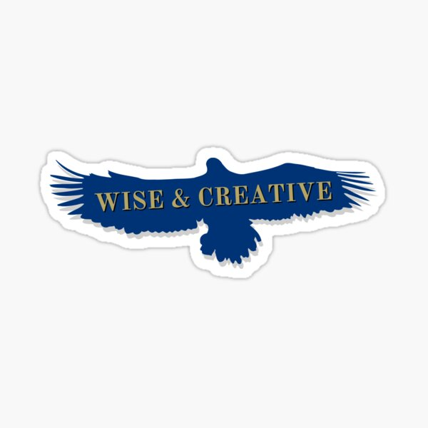 Blue Eagle Raven Flying Wise and Creative Sticker