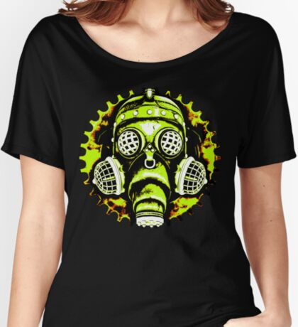 Steampunk / Cyberpunk Gas Mask Posterized Version Relaxed Fit T-Shirt