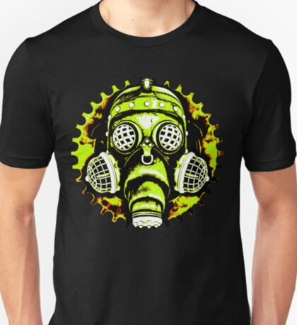 Steampunk / Cyberpunk Gas Mask Posterized Version T-Shirt
