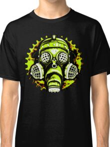 Steampunk / Cyberpunk Gas Mask Posterized Version Classic T-Shirt