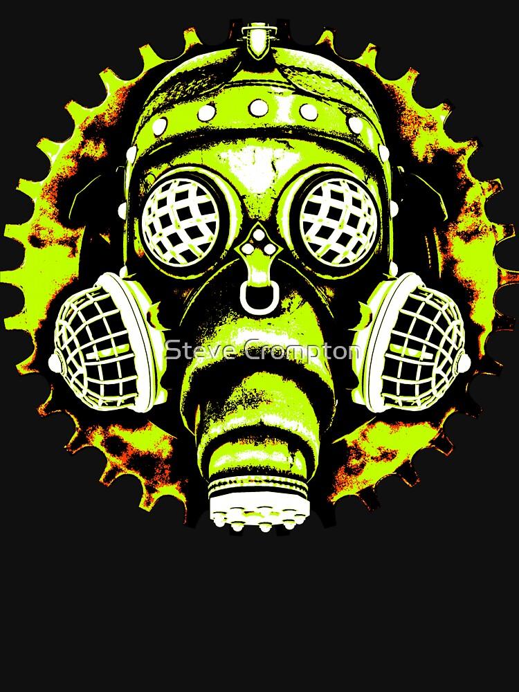 Steampunk / Cyberpunk Gas Mask Posterized Version by SC001
