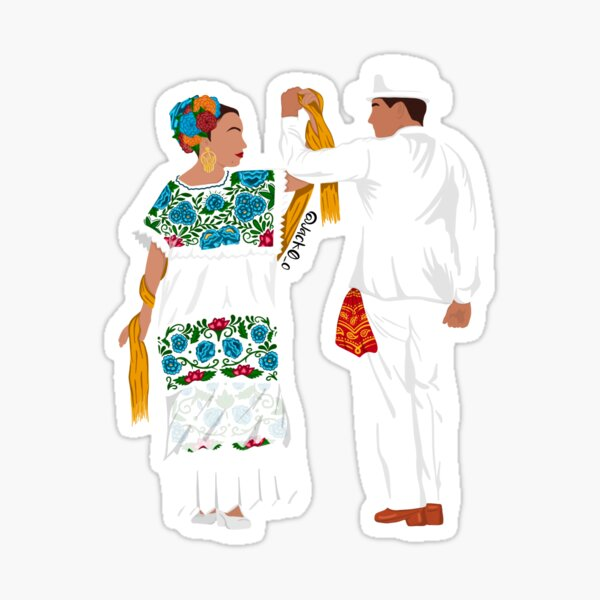 Yucatán couple  Sticker