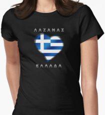 ΛΑΖΑΝΑΣ  EΛΛAΔA - Laganas Greece - Greek Flag - Heart T-Shirt
