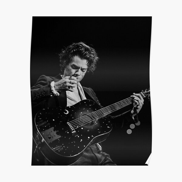 sky guitar black styles Poster