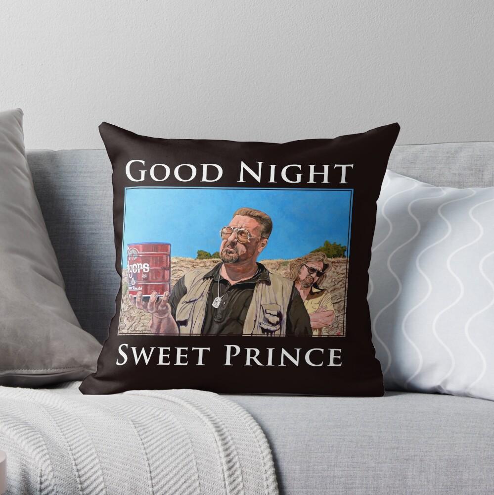 Good Night Sweet Prince Throw Pillow